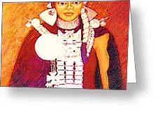 Daughter Of The Bright Sun - Kushe Greeting Card