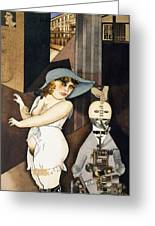 Daum Marries Her Pedantic Automaton George Greeting Card