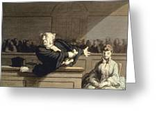 Daumier: Advocate, 1860 Greeting Card