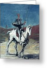 Daumier: Quixote, 19th C Greeting Card