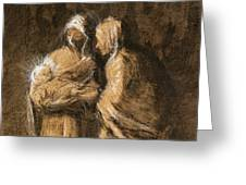 Daumier: Virgin & Child Greeting Card