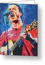 Dave Matthews Squared Greeting Card