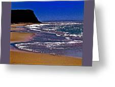 Davenport Landing Beach Purple Greeting Card