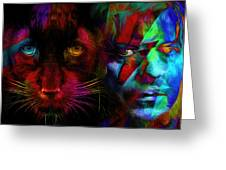 David Bowie - Cat People  Greeting Card