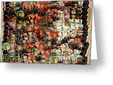 David Bowie Collage Mosaic Greeting Card