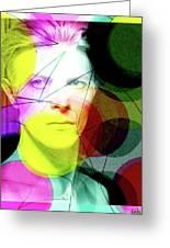 David Bowie Futuro  Greeting Card