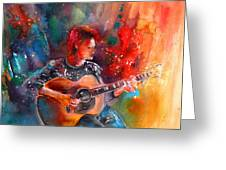 David Bowie In Space Oddity Greeting Card