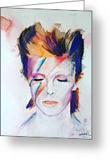 David bowie painting by leah katherine david bowie greeting card bookmarktalkfo Image collections