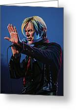 David Bowie Live Painting Greeting Card