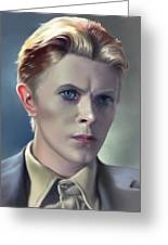 David Bowie Portrait In A Suit Greeting Card