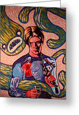 David Bowie Song Reference Painting Greeting Card