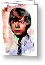 David Bowie Teenager Aquarelle  Greeting Card