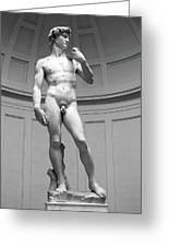 David By Michelangelo Greeting Card
