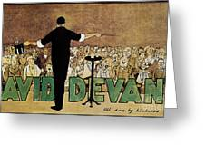 David Devant Poster C1910 Greeting Card by Granger