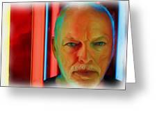David Gilmour Red,nixo Greeting Card