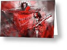 David Lee Roth And Eddie Van Halen Jump Greeting Card