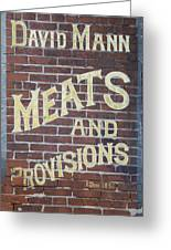 David Mann - Meats And Provisions Greeting Card