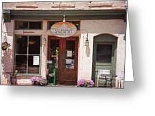 Davidson North Carolina Coffee Shop Greeting Card by Kim Fearheiley