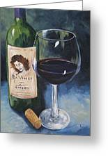Davinci Chianti For One   Greeting Card
