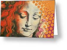 Davinci's Head Greeting Card