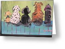 Dawg Outhouse Greeting Card