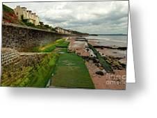 Dawlish Sea Wall Greeting Card