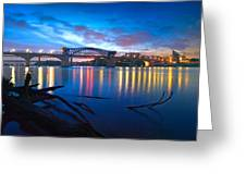 Dawn Along The River Greeting Card by Steven Llorca