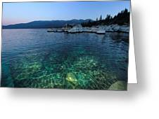Dawn Arrives At Lake Tahoe  Greeting Card