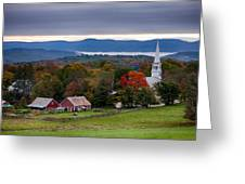 dawn arrives at sleepy Peacham Vermont Greeting Card
