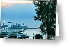 Dawn At Bay Colony Greeting Card