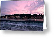 Dawn At Boathouse Row Greeting Card