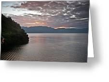 Dawn At Casa De Mundo Lake Atitlan 1 Greeting Card
