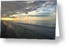 Dawn At Folly Beach Greeting Card