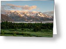 Dawn At Grand Teton National Park Greeting Card