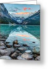 Dawn At Lake Louise Greeting Card