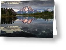 Dawn At Oxbow Bend Greeting Card