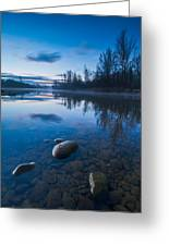 Dawn At River Greeting Card