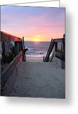 Dawn At The Beach Greeting Card