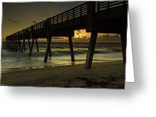 Dawn At The Pier Greeting Card