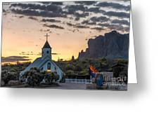 Dawn At The Superstitions Greeting Card