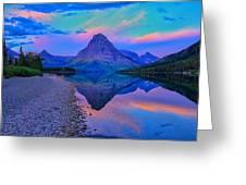 Dawn At Two Medicine Lake Greeting Card