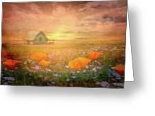 Dawn Blessings On The Farm Greeting Card