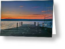 Dawn Breaking Greeting Card by Steven Ainsworth