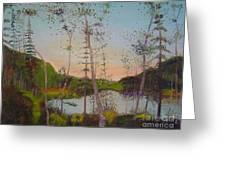 Dawn By The Pond Greeting Card
