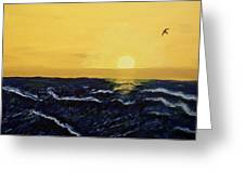 Dawn By The Sea Greeting Card