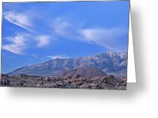 Dawn Eastern Sierra Nevada Mountains Greeting Card