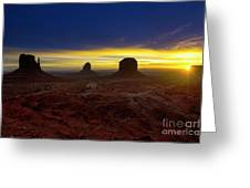 Dawn In The Valley Greeting Card