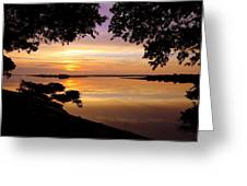 Dawn Greeting Card by Karen Wiles