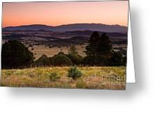 Dawn Near Ruidoso New Mexico Greeting Card