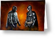Dawn Of The Dark Knight Greeting Card
